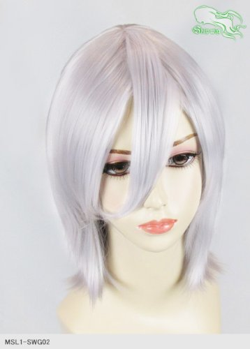 スキップウィッグ 魅せる シャープ 小顔に特化したコスプレアレンジウィッグ シャイニーミディ ホワイトキャンディ