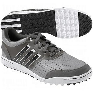 2014 Adidas AdiCross III Mens Spikeless Street Golf Shoes Mid Grey / White 9.5UK-Wide