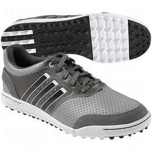 2014 Adidas AdiCross III Mens Spikeless Street Golf Shoes Mid Grey / White 9.5UK-Wide