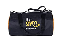 Dee Mannequin 1181Cms Softsided Polyester Black,Orange Gym Duffle Bag