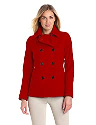 Tommy Hilfiger Women's Classic Double-Breasted Wool Peacoat