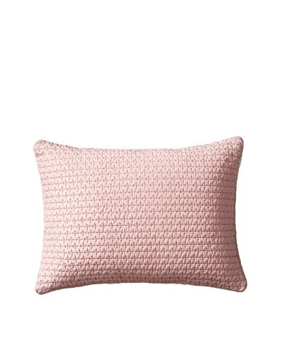 Vera Wang Roses Jacquard Stitched Quilted Pillow, Pink