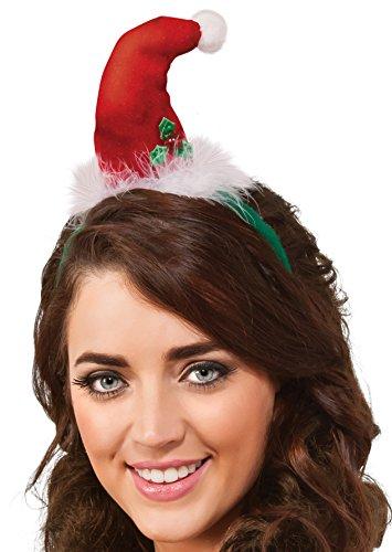 Velour Light-Up Santa Headband