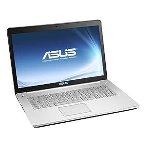 """Asus Multimédia N750JK-T4105H PC portable 17"""" Noir et Argent (Intel Core i7, 6 Go de RAM, disque dur 1 To, Carte NVIDIA Geforce GTX850M 2 Go, Windows 8)"""