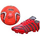 Port Unisex PU Combo Pack Of Soccer Ball And Soccer,Cleats,Football Shoes - B072BVWCBY