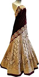 Royal Fashion beige DESIGNER LEHENGS CHOLI MATERIAL.