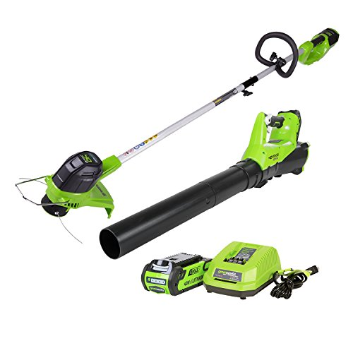 GreenWorks STBA40B210 G-MAX 40V Cordless String Trimmer and Blower Combo Pack (Blower And Weed Wacker Combo compare prices)