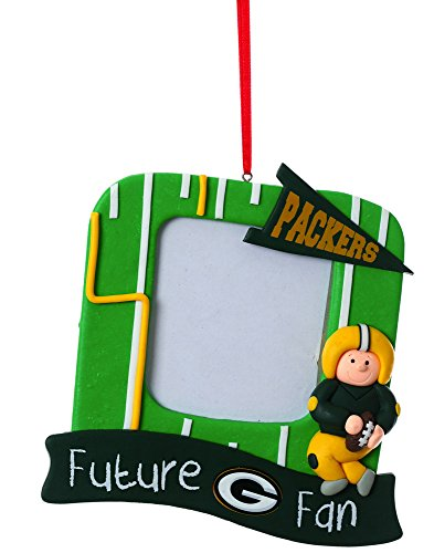Green Bay Packers Official NFL 5.25 inch x 5 inch x 2.5 inch Future Fan Photo Frame Christmas Ornament