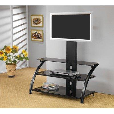 Buy Low Price Coaster 700617 Metal and Glass TV Stand, Black (B004IZ3XFW)