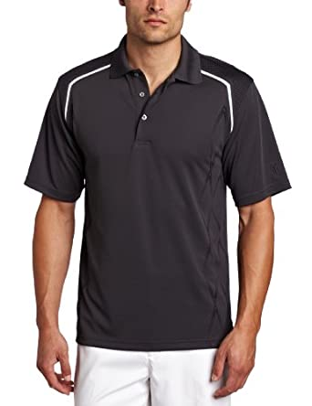 PGA TOUR Men's Short Sleeve Placement Argyle Pigment Print Polo Shirt, Nine Iron, Medium