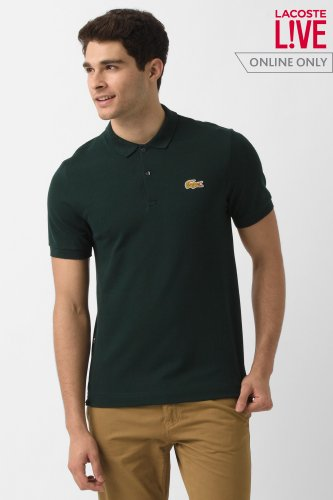 L!ve Short Sleeve Stretch Pique Croc Polo Shirt
