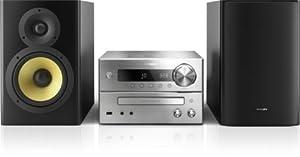 Philips BTB7150/10 Mini Stereoanlage mit Bluetooth (150 W RMS, DAB+, NFC, aptX, USB Direct), silber/schwarz