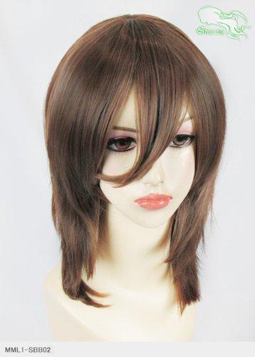 スキップウィッグ 魅せる シャープ 小顔に特化したコスプレアレンジウィッグ フェザーミディ マロングラッセ