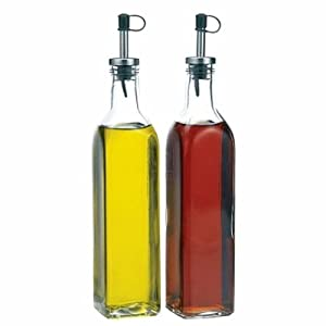 Glass Oil & Vinegar Dispenser Cruet bottles, Set of 2