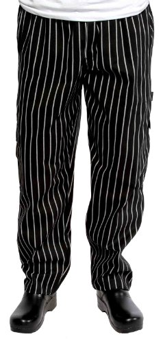 Chef Works Cpgs-000 Black And White Chalkstripe J54 Cargo Pants, Size 2Xl front-285856