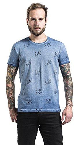 Pokemon-Allover-Pikachu-Camiseta-Azul