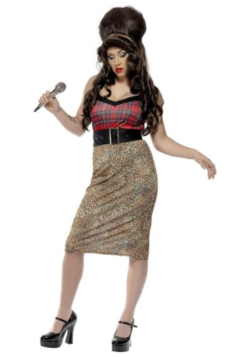 Smiffy'S Women'S Rehab Babe Costume With Dress Belt And Headpiece, Multi, Medium