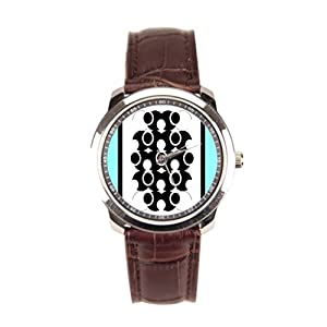 Dr. Koo Turquoise Watch Leather Original Mens Brown Leather Watch