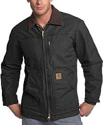 Carhartt Men\'s Ridge Coat Sherpa Lined Sandstone,Black,XX-Large