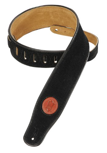 Levy's Suede Leather Guitar Strap - Black