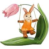Porzellan-Hase auf Blumen-Schaukel, Endlich Frühling, 66874884