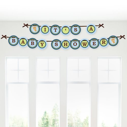 Boy Baby Teddy Bear - Baby Shower Garland Banners front-701083