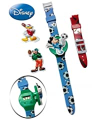 Disney Mickey & Friends Baseball Watch - With Interchangeable Straps And Flip-top Covers