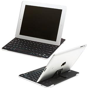 SHARKK iPad 2 Bluetooth Aluminum Keyboard Case For Apple Ipad2 + Screen Protector