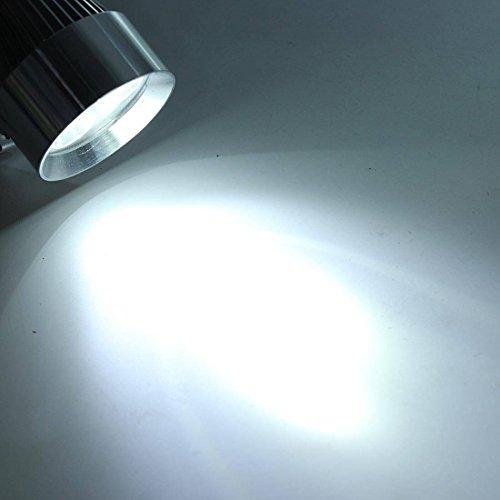 AUDEW 12V 15W Moto Voiture de LED DRL Feux de Jour Spotlight Argent