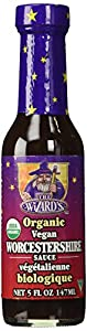 The Wizard's Organic Vegan Worcestershire Sauce, 5 oz Bottles in a Gift Box (Pack of 2)