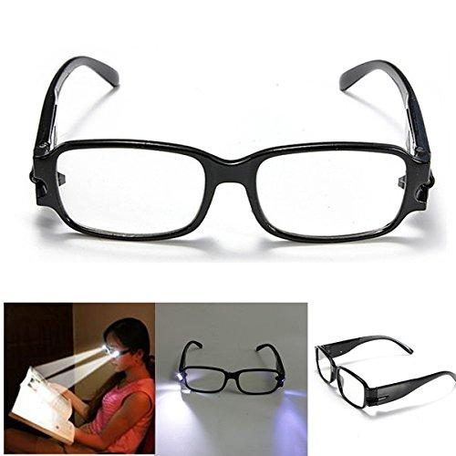 Night Reading Glasses 2 Led Lights Eye Magnifier +1.50 +2.00 +2.50