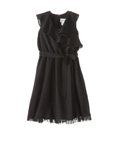 Blush by Us Angels Girl's Wrap Dress  [Black]