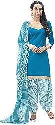 K.K BROTHERS Women's Satin Dress Material (Blue)