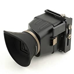 Neewer Foldable 3X Magnification LCD Viewfinder Loupe, Eye-Shutter, 1:1 Standard Viewing, Swivel Screen, Support 3\