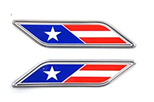 Genuine Fiat Accessories 82212877 American Flag Fender Badge for Fiat
