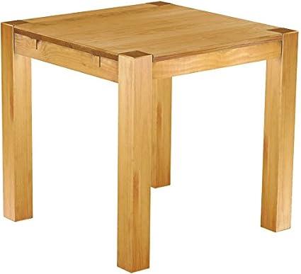 Brasil Furniture Dining Table Pine Wood Honey Coloured 'Rio Kanto' 73x 73x 78cm