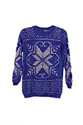 GURU KIRPA COLLECTION Blue Sweater for Womens