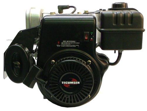 LH358XA-34-Man 10hp Horizontal 3/4″x2-5/16″ Shaft, Muffler, LOS, 1 Gallon Tank, Recoil Start, Manual Throttle Tecumseh Engine