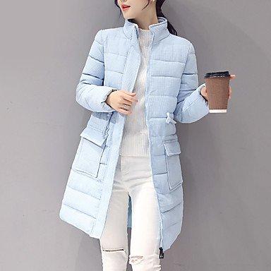 VU*LK Cappotto Da donna Imbottito Moda città Manica lunga Cotone , gray , 3xl