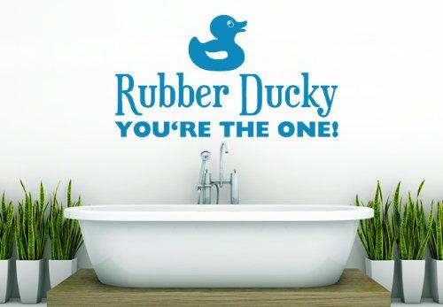 Wall Vinyl Sticker Decals Decor Art Bathroom Design Mural Rubber Ducky Sign Words Quote (Z994) front-934699