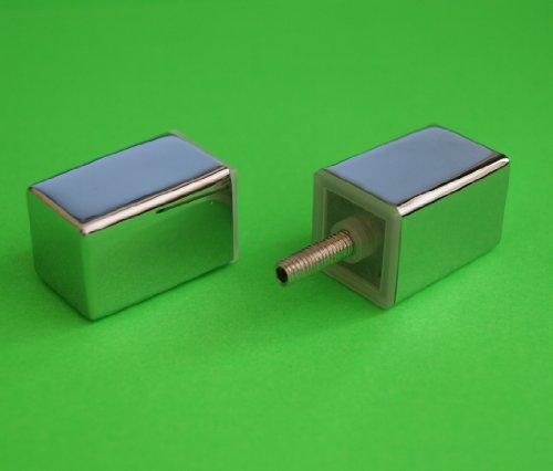 Shower Door Handle/Knob Chrome Zinc Alloy Square shaped High Quality L066