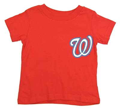 Bryce Harper Washington Nationals Red Youth Jersey Name and Number T-shirt