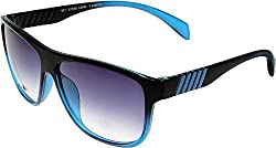 Elijaah Multi-ColouRed Large UnisexOval Sunglasses 39063_Blackblue