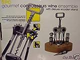 Gourmet Connoisseurs Wine Ensemble - 5 Pc. Set/Black