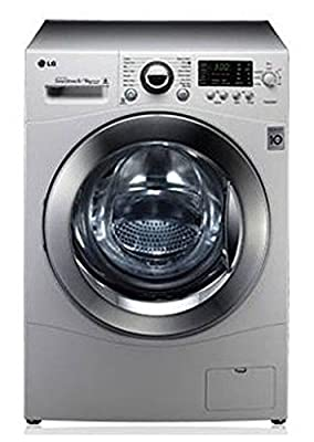 LG F14A8YD25 Six Motion Direct Drive Fully-automatic Front-loading Washing Machine (8.6 Kg, Silver)