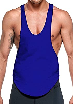 YAKER Blank Stringer Bodybuilding Gym Tank Tops