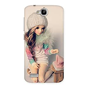 Delighted Cute Winter Doll Multicolor Back Case Cover for Honor Holly