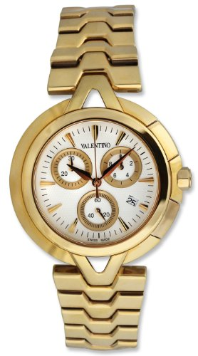 Valentino V-Valentino Chronograph Gold Plated Steel Mens Casual Watch V51LCQ9902-S099-GP