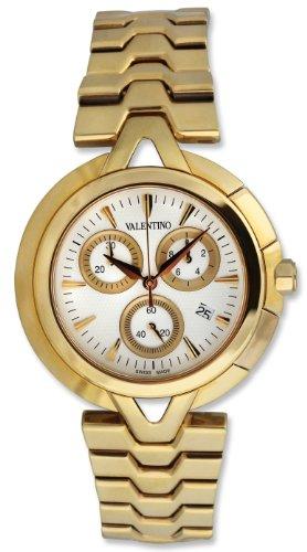 Valentino V-Valentino Chronograph Gold Plated Steel Mens Casual Watch V51LCQ9902-S099-GP