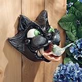 "9"" Classic Feline Sculpture Bird House Feeder"